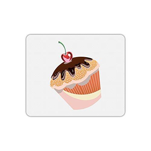 Mauspad, rechteckig bedruckt Muffin kirschrot - Rechteckige Kirsche