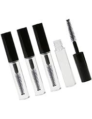 MagiDeal 4pcs 4ML Tube Vide avec Brosse pour Mascara Bouteille de Cils Croissance Flacon Lip Gloss -- Partfait pour Voyage ou Déplacement