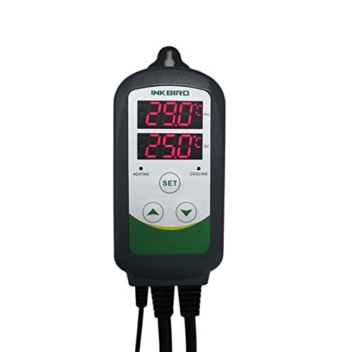 Inkbird Dual Relé 220V ITC-308 Digital Termostato con Sonda, Enfriamiento y Calefacción Control de Temperatura, para Cerveza Fermento, Invernadero
