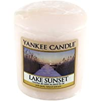 Yankee Candle Samplers Candele Votive Lake Sunset, Cera, Rosa, 4.6 x 4.5 x 5.3 cm