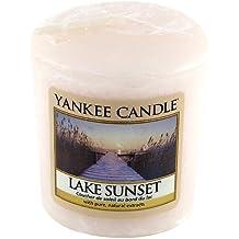 Yankee Candle Samplers Candele Votive Lake Sunset, Cera, Rosa, 4.6 x 4.5 x 5.3 cm