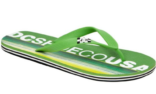 DC SANDALS SPRAY GREEN YELLOW INFRADITO SS 2014-US 8 EUR 40.5 CM 26