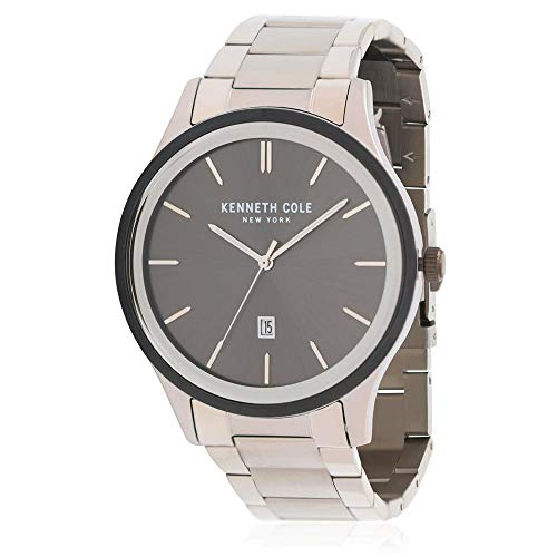 Kenneth Cole Men's Steel Bracelet & Case Quartz Black Dial Watch KC50499003