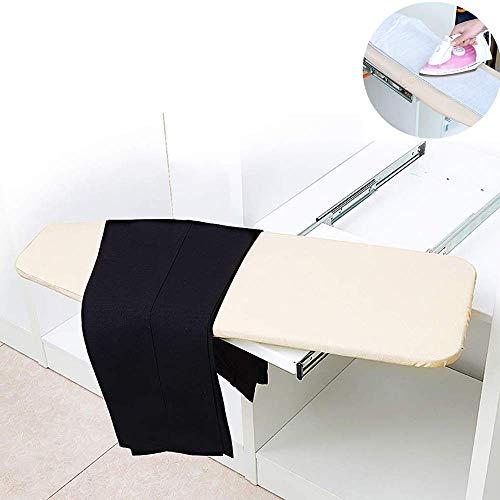 Asse da stiro pieghevole pull-pull, per pantaloni caldi, design nascosto, facile da installare e da usare, lavabile, adatto all'uso domestico