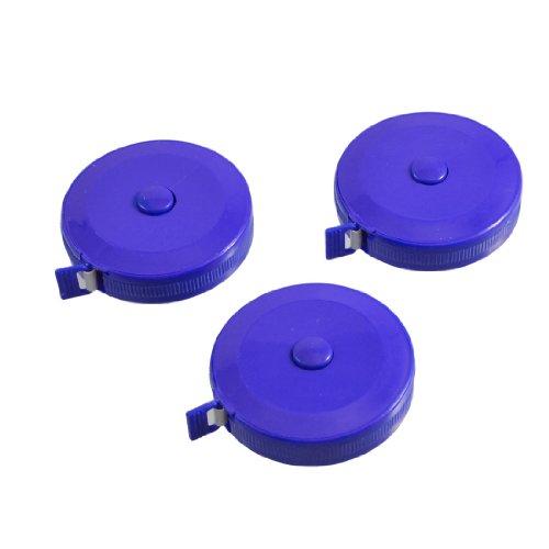 3PCS 150cm 152,4cm Push Button Blau Case Soft Roll-Maßband Blau Push-button