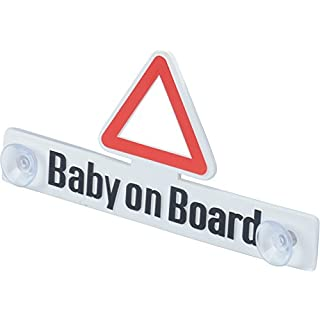 hr-imotion Baby-On-Board Schild mit Saugnapfhalterung [Stabil   Wieder verwendbar   Made in Germany] - 12410001