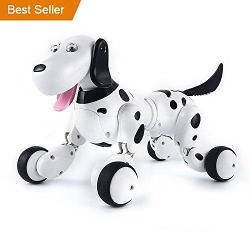 SainSmart Jr. Electronic RC Smart Dog, Wireless Interactive Puppy, Children's Toy Dancing Robot Pet, Black