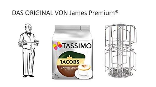Tassimo Kapselhalter für 64 Kapseln Größter Kapselhalter auf dem Markt geschütztes Design + Cappuccino