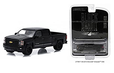New 1:64 BLACK BANDIT COLLECTION SERIES 13 - BLACK 2015 CHEVROLET SILVERADO 1500 Diecast Model Car By Greenlight by Greenlight