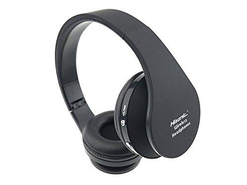 Bluetooth Kopfhörer, Bluetooth Headset Wireless Over Ear Headphones Stereo Hisonic Foldable Wireless Microphone Headset Bluetooth Earphone SUN8252 (Schwarz)
