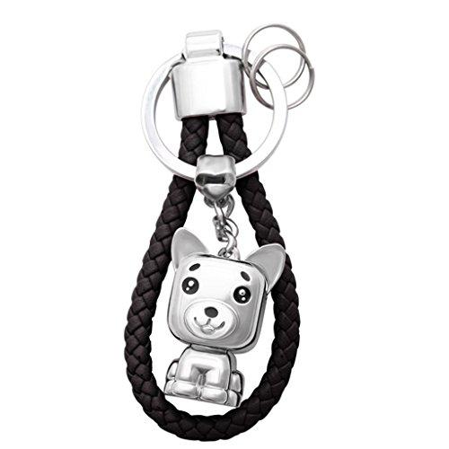 PLL Kreative Hund Jahr Shiba Inu Maskottchen Keychain Männer und Frauen Liebhaber Auto Keychain Anhänger ( Color : Black ) (Tier-liebhaber-hund-tag)