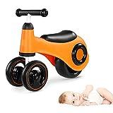 WDXIN Kinder Laufrad Spielzeug 1-3 Jahre alt Baby Gleiten Auto Baby Spielzeug Kind Balance Vierradantrieb,Orange