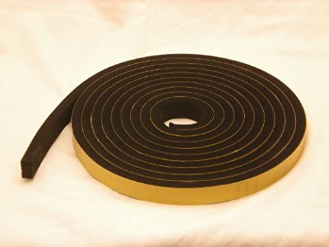 Neopren-Klebestreifen, selbstklebend, 20mm breit x 12mm dick x 5m lang (Geschlossenen Trailer)