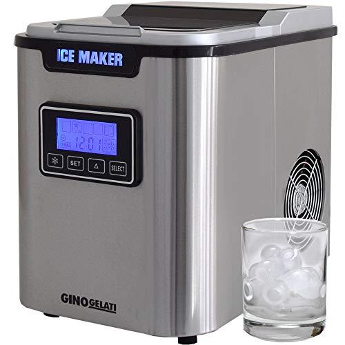 Gino Gelati GG-175W Digitaler Edelstahl Eiswürfelbereiter Eiswürfelmaschine Icemaker