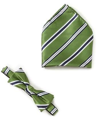 SELECTED HOMME Herren Fliege, gestreift 16029607 Rico Bowtie T, Gr. one size, Mehrfarbig (Green)
