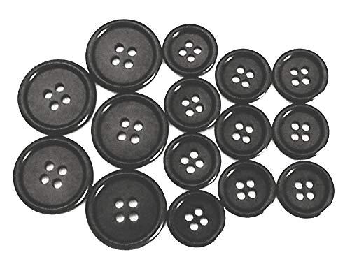 15 Anzug Knöpfe Echt Steinnuss schwarz 5x20mm 10x15mm (20 20 Anzüge)