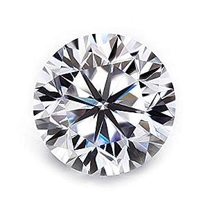 AAA+ Moissanite Brillant Diamond Cut 1,00ct Weiß 6,5mm VVS1 Farbe D mit GRA Zertifikat