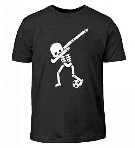 (Dabbing Skelett Fußball Spielen Spieler WM Halloween Dab - Schlichtes und Witziges Design - Kinder T-Shirt)