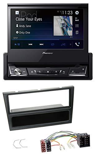 caraudio24 Pioneer AVH-A7100BT Bluetooth CD MP3 DVD USB Autoradio für Opel Agila Combo Vivaro Corsa C Omega 2001-2004 schwarz (Auto-cd-player-lautsprecher-combo)