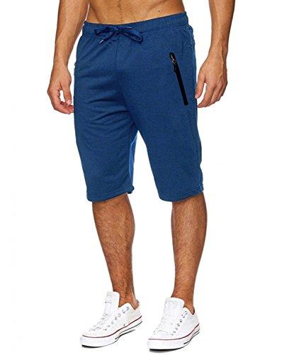INCERUN Herren Sport Training Sweat Short Fitness Kurze Hose Jogging Shorts königlich XL