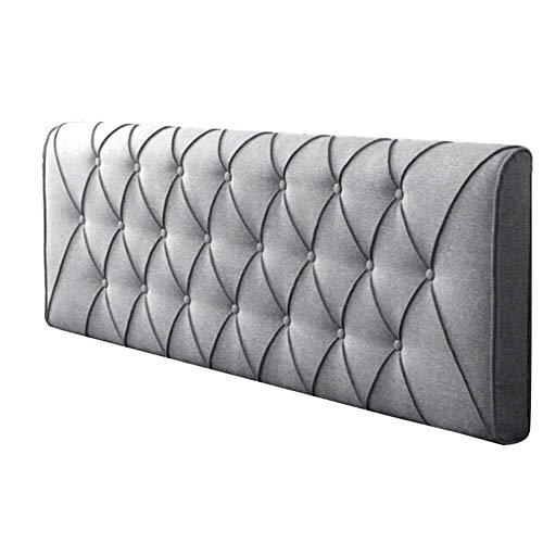 Pad Bett Pack (LIXUE Kissen Sackleinen Headboard Soft Pack Wand ohne Bett Kissen Massivholz Bett Large Back Schwamm Kissen abnehmbar und waschbar Rückenlehne (Color : F, Size : 200CM))