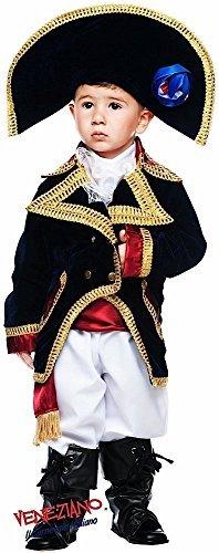 Italienische Herstellung Deluxe Baby Kleinkind Jungen Napoleon Piraten Buch Tag Woche Verkleidung Kleid Kostüm Outfit 0-3 jahre - Weiß, 9 (Piraten Kleinkind Stiefel)