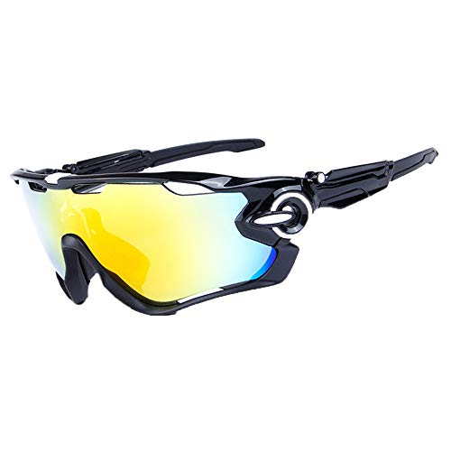 GLASSES Outdoor Sports Cycling, Full Frame PC Polarized HD, UV Protection Sun Protection Anti-Glare Sunglasses, Suitable for Cycling, Climbing, Driving