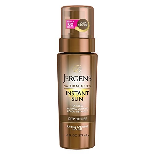 Jergens Natural Glow Instant Sun Sunless Tanning Mousse, DARK (Selbstbräuner) -