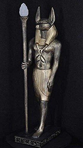 ANUBIS STEHLAMPE ÄGYPTEN MYTHOLOGIE Krieger Ägyptische Figuren Figur der Antike Lampe Anubis Pharaonen Tutanchamung 2875 k 110