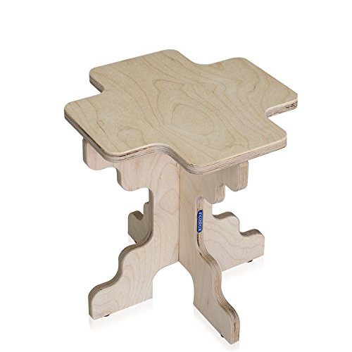 Rígida Quito Mini ECO-LOGIC taburete para niño Convertible ecológico 30x 30x 32cm color madera natural