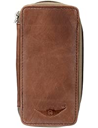 Tan Twist 100%Genuine Leather Beige Bank Locker Key Pouch (MKH004) By Maskino Leathers