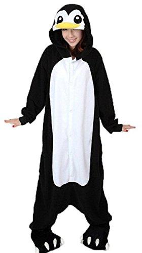 iKneu Pinguin Onesie Jumpsuits Kostuem Pyjama Oberall Hausanzug Kigurum Schlafanzug (Pinguin Kostüme)