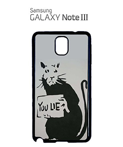 Banksy Mouse You Lie Funny Cool Meaningful Mobile Phone Case Samsung Note 3 White Noir