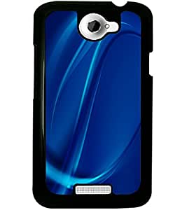 ColourCraft Lovely Pattern Design Back Case Cover for HTC ONE X