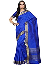Mimosa By Kupinda Crepe Saree Kanjivaram Style Color: Blue (4035-2126-SD-RBLU)