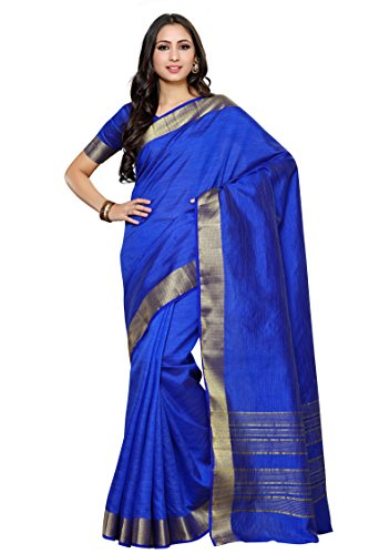 Mimosa By Kupinda Crepe Saree Kanjivaram Style Color: Blue (4035-2126-SD-RBLU)  available at amazon for Rs.799