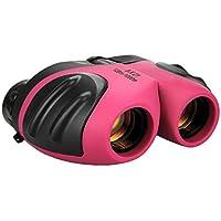 Juguetes para niñas de 3-12 años, Binocular Compacto para niños Regalos para cumpleaños de niña Adolescente Rosado TG010