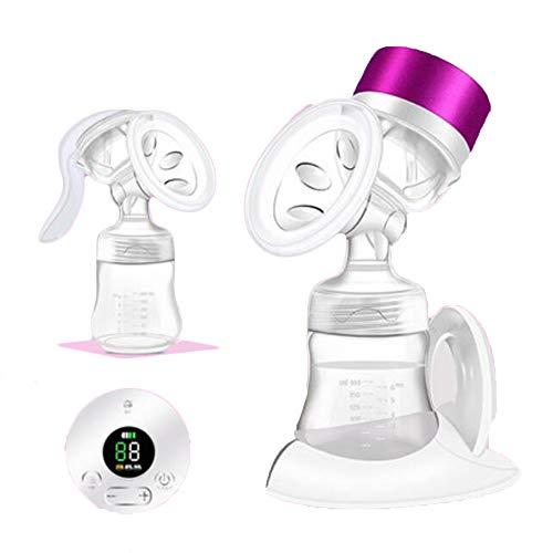 Liuliangmei Brustpumpe Elektro-Breakpumpe Automatische Super-Quiet Elektro-Milchpumpe mit Speicherfunktion Brust-Massage 9 Stufen 3 Stufen 3 Modes Touchscreen USB wiederaufladbare Milch Brustpumpe