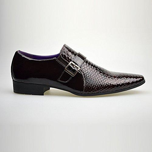 Hommes Neuve Décontracté Cuir Brun élégant formel Chaussures Boucle TAILLE UK 6 7 8 9 10 11 Marron 2