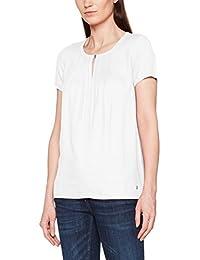 TOM TAILOR Damen Fabric Mix Pleat T-Shirt