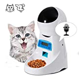 Sailnovo Automatic Pet Feeder Pet Food Dispenser Cat Feeder Dog Feeder with 4 Meals Programmable Timer and Voice Recorder for Cats Medium Small Size Dogs Puppy