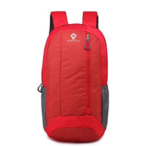 LJ&L Outdoor Sport Freizeit Wandern Tasche, tragbar und atmungsaktiv, 20L Kapazität verstellbaren Rucksack Red
