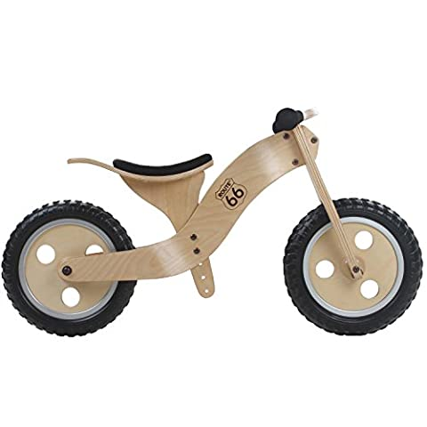 12 Zoll Holz Laufrad Lernlaufrad Fahrrad Kinderbike Lauflernrad Bike Kinder, Ausführung:Variante 1