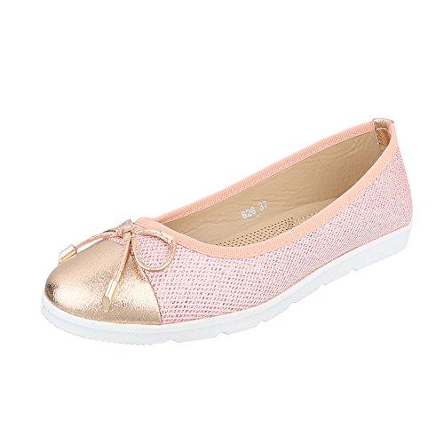 Ballerine Ital 626 Rosa Design donna CY850Aq