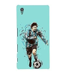 PrintVisa Football Player Man 3D Hard Polycarbonate Designer Back Case Cover for Sony Xperia Z5 :: Sony Xperia Z5 Dual