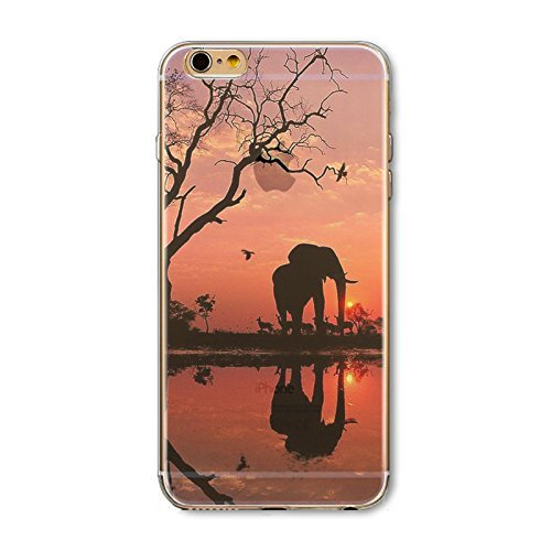 Coque iPhone 6 6s Housse étui-Case Transparent Liquid Crystal en TPU Silicone Clair,Protection Ultra Mince Premium,Coque Prime pour iPhone 6 6s-Paysage-style 26 28