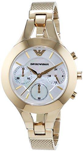 Emporio Armani - AR7390 - Montre Femme - Quartz Chronographe - Cadran Nacre - Bracelet Acier Or