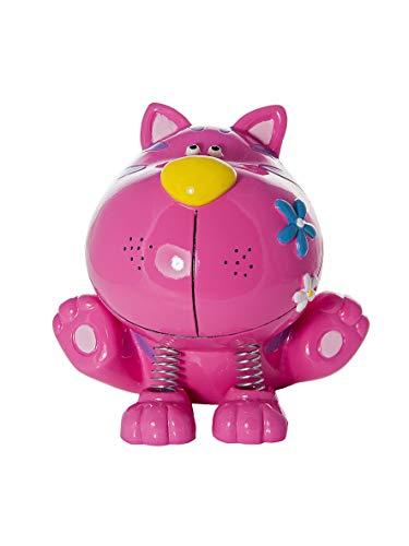 Hucha en forma de gato rosa para niños