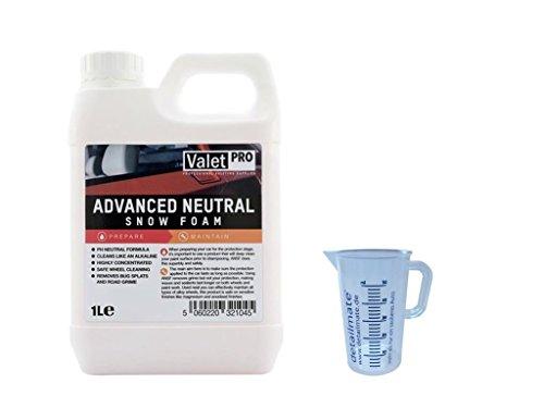Preisvergleich Produktbild ValetPRO Advanced neutral Snow foam 1 Liter + Detailmate Messbecher 50 ml