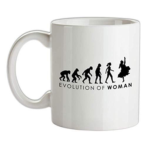 Dressdown Evolution of Woman - Cancan-Tänzerinnen - Bedruckte Kaffee- und - Cancan Tänzerin Kostüm
